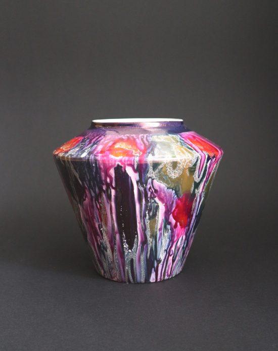 Scheurich purple fat lava vase