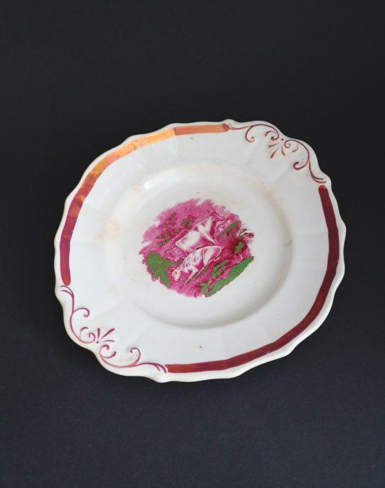 Antique transferware plate