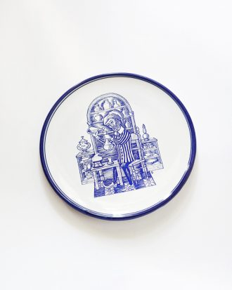 Vintage apothekary pharmacy plate