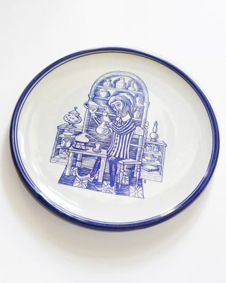 Vintage apothecary pharmacy plate