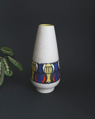 West German pottery Dümler & Breiden fat lava vase