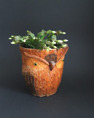 vintage wicker planter