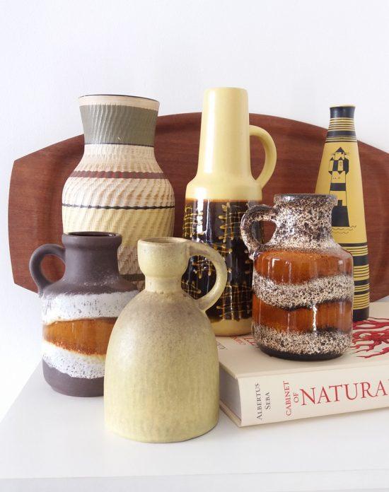 West German Pottery vases