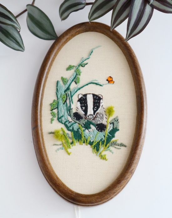 little badger embroidery for kids