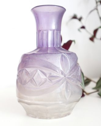 Antique pressed glass bottle