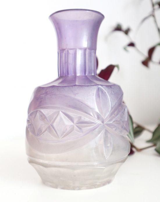 Antique pressed glass bottle