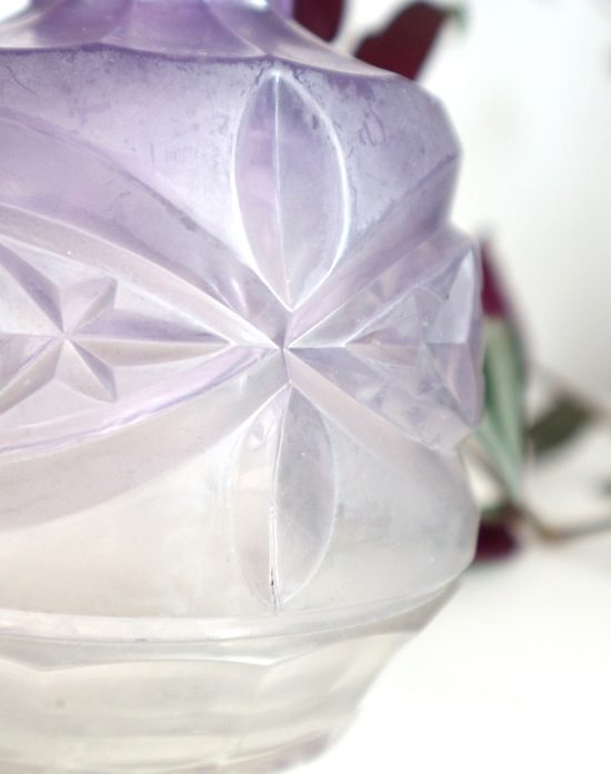 Antique pressed glass decanter