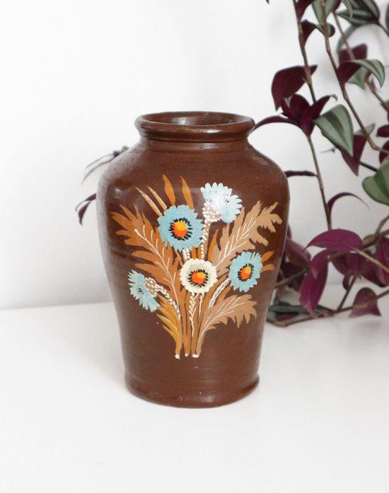 Vintage ceramic rustic vase