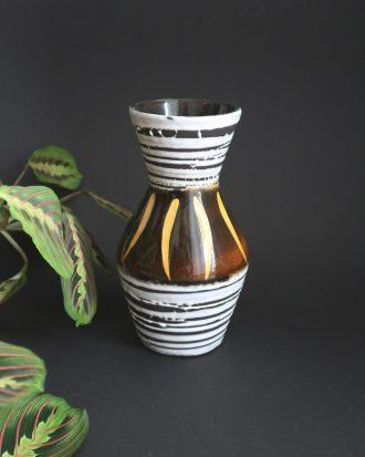 Mid Century Modern fat lava vase