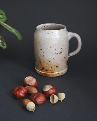 rustic speckled pottery mug