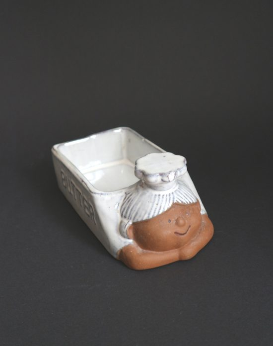 anthropomorphic butter dish
