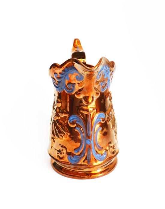 Victorian copper lustreware pitcher