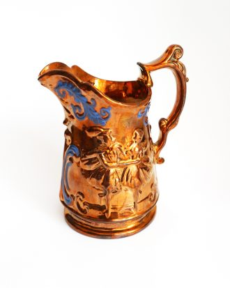 Victorian copper lustreware pitcher