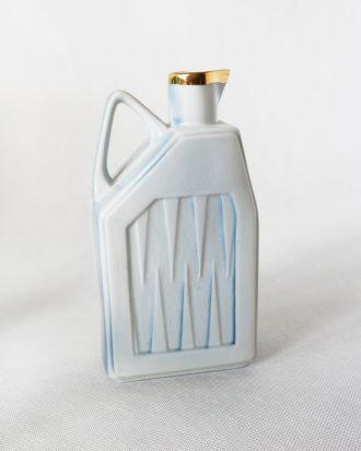 Vintage porcelain geometric vase