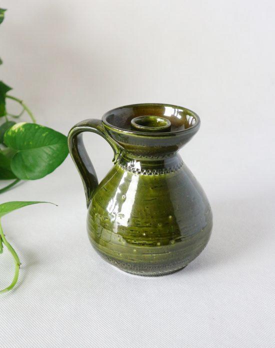 green rustic candleholder