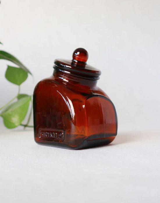 brown glass kitchen jar