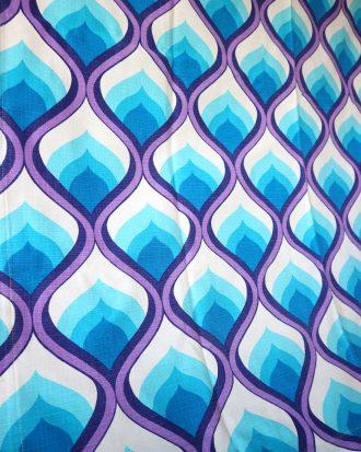 retro purple and blue fabric