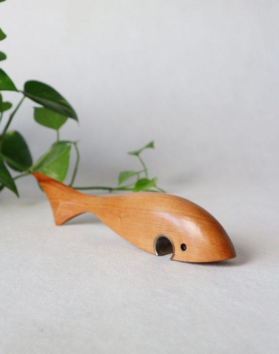 Mid Century Modern teak fish bottle opener