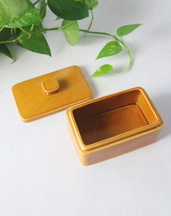 Hornsea Saffron butter dish