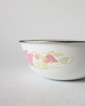 pink flowers bowl