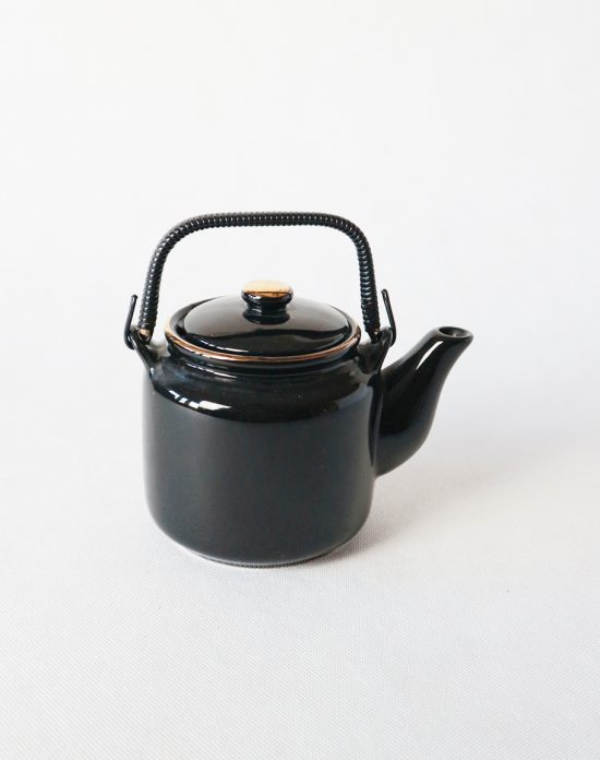 vintage black teapot