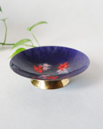 MCM enameled bowl