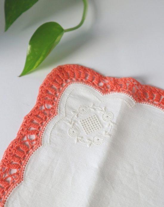 embroidered vintage handkerchief