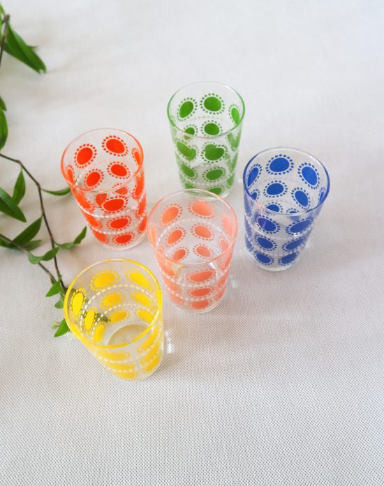 Vintage colorful tumblers