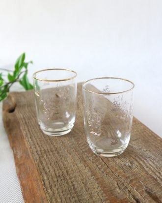 Vintage etched glasses