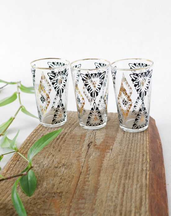 MCM black and gold tumblers