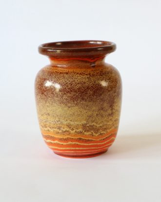 Vintage vase in terracotta color