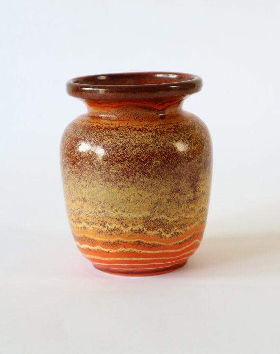 Vintage vase in terracotta color