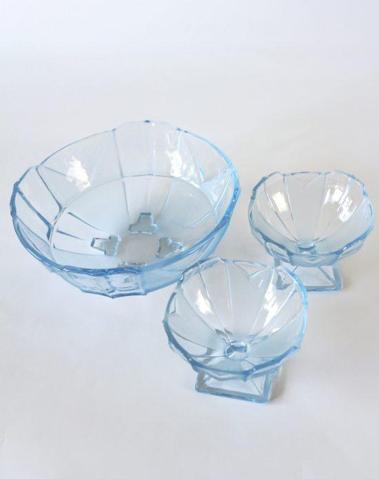 Art Deco glass bowls