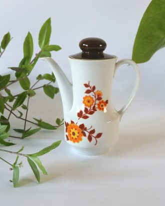 Mid Century Modern orange coffee pot