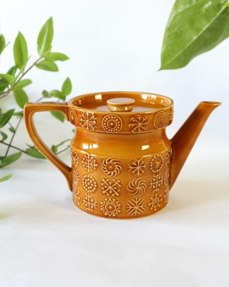 Potrmeirion Totem brown tea pot