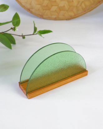vintage glass napkin holder