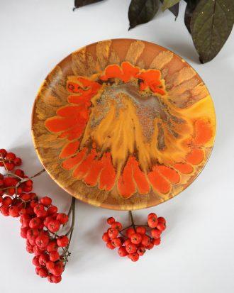 vintage dripping glaze plate